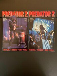 Predator 2 #'s 1 & 2 1991 Complete High Grade 9.4 Dark Horse Comic Books D22-89
