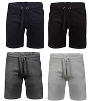 NEW MENS SWEAT SHORTS FLEECE SUMMER JOGGING GYM RUNNING ZIP POCKETS PLAIN