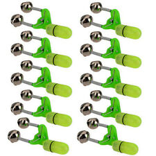 10Pcs LED Light Double Twin Bells Tip Clip On Fish Fishing Rod Bite Alarm