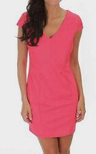 Womens Juniors Pink Fuschia Cap Sleeve Sip up Mini Dress  M Medium