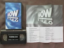 NOW VIDEO V.A. JAPAN VHS TOVW-3200 w/INSERT Free S&H Roxette,Queen,Blur,Enigma