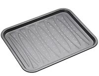New Masterclass 39cm x 32cm Non Stick Baking Oven Tray for Chips - KCMCHB25