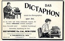 Dictaphon Co.Ltd.New-York Vertretung Thallmayer Wien c.1911
