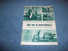 "1958 NSU Prima Custom Scooter Vintage Article ""Way Out in Scootersville"""