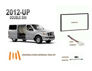 NEW fits 2012-UP NISSAN NV Car Stereo Double DIN Dash Kit, with Wire Harness
