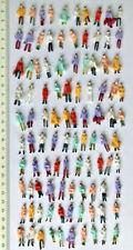 100 Figuren Personen Spur H0 1:87 stehend bemalt Eisenbahn Modellbau Reisende 00