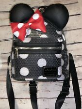 BNWT Disney Parks Minnie Mouse Sequin Polka Dot  Loungefly Mini Backpack