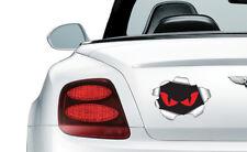 Evil Yeux Déchiré Métal Auto Adhésif Stickers SAFETY Signes