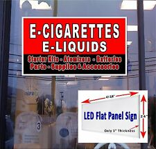 LED Sign E  Cigarette  E  Liquids supplies 48x24 window sign neon alternative