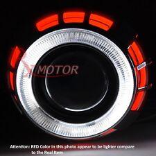 "Ford Headlight Retrofit Projector Bi Xenon Dual CCFL Halo Ring 2.5"" H1 HID RED"