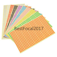 6mm Round Stickers Multicolor Paper Notebook Labels Circles Polka Dots 1 Sheet
