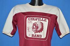 vintage 80s COLVILLE HIGH SCHOOL BAND NATIVE AMERICAN JERSEY t-shirt MEDIUM M