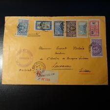 COLONIE MADAGASCAR LETTRE COVER CONSULAT SUISSE CAD TANANARIVE 1933 -> LAUSANNE