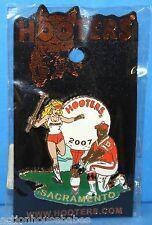 HOOTERS 2007  GOLF TOURNAMENT SACRAMENTO FOOTBALL PLAYER SEXY GIRL LAPEL PIN