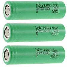 Samsung Li-Ionen Akku HP SDI INR18650-25R -2500 mAh 3,7 V - FlatTop - 3 Akkus