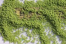 Vintage Venetian 13/0  Glass Seed Beads Opaque Green Yellow # 3 Crafts/1/2oz