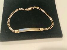 14k gold baby  Child . ID  bracelet 6.25""