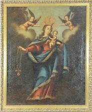 VIERGE ET L'ENFANT. HUILE SUR TOILE. COLONIAL ÉCOLE. CENTURY XVII-XVIII.