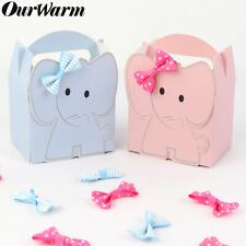 10× Elephant Candy Boxes Paper Gift Box Baby Shower Birthday Party Table Decor
