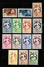 AFRIQUE EQUATORIALE FRANCAISE. A.E.F. N° 167/180 RESISTANCE Neufs*. Cote 175 €