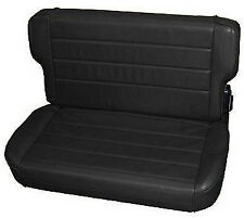 Smittybilt Fold And Tumble Rear Seat for Jeep Wrangler TJ  1997-2006 Black Denim