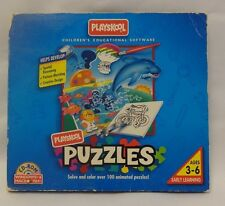 Playskool Puzzles Over 100 Children's Educational Software CD PC MAC 3-6 Years
