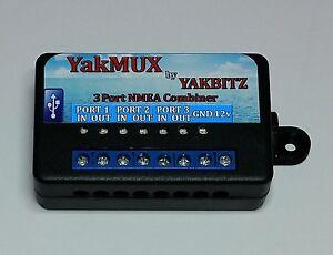 YakMUX 3 Port NMEA Combiner/Multiplexer USB Adaptor