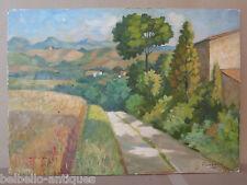QUADRO MODERNO VINTAGE 1900 PAESAGGIO STILE IMPRESSIONISTA FIRMATO ORIGINALE p6