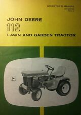 John Deere 112 Garden Tractor Owner & Snowblower Owner & Parts (3 Manual s) 70pg