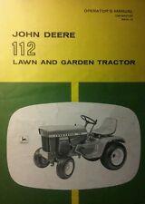 John Deere 112 Lawn & Garden Tractor Owners Manual 36pg Riding Mower Farm Pulls