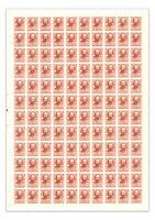 Australia 1962 5d Stuart Full Sheet of 80 Stamps Left Perf Pips SG342 MUH 8-37