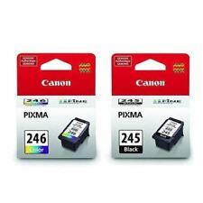 Canon 245 Black 246 Tri Color Bundle Ink Cartridges, New, Genuine,Retail Box