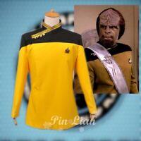 Star Trek TNG Yellow Uniform Top Jacket Cosplay Costume Halloween