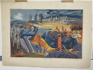 """Harry Gottlieb WPA ARTIST """"The Swimming Hole"""" Signed Original Color Screen-print"""