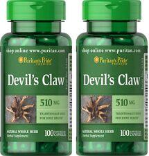 2X Devil's Claw 510 mg  x 100 ( 200 ) Capsules  Puritan Pride - 24HR DISPATCH