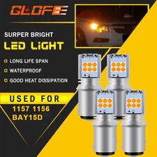 4X CREE 1157 BAY15D 7507 P21/5W Backup Turn Signal Light Bulb ULTRA BRIGHT Amber