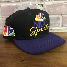 Vtg NBC Sports Hat Cap Snapback Sports Specialties Youngan Black Purple Peacock
