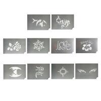 10pcs Reusable Face Paint Stencils Body Paint Templates Tattoo Design Tools