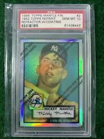 MICKEY MANTLE 1952 TOPPS FINEST REFRACTOR #2 ROOKIE W/ COATING LOW POP ONLY 14
