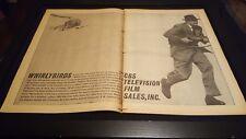 Whirlybirds Rare Original CBS TV 1957 Promo Poster Ad!