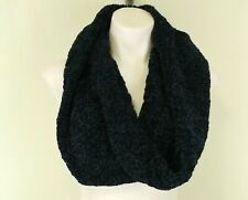 Peace and Pearls Women Infinity Scarf, one size, dark blue, polyester