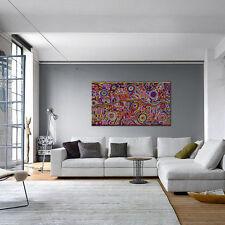 ABORIGINAL ART PAINTING by BETTY MBITJANA 'AWELYE & BUSH MELON Authentic Artwork