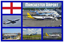 MANCHESTER AIRPORT - SOUVENIR NOVELTY FRIDGE MAGNET - SIGHTS- BRAND NEW / GIFT