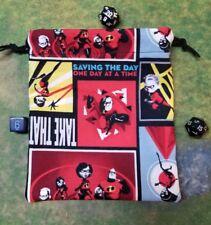 Disney Incredibles 2 Save The Day dice bag, card bag, makeup bag