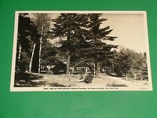 ZU764 Vintage RPPC Pine Beach North Channel French River Rutter Ontario Canada