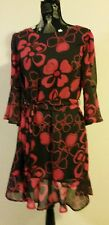 NEW Floral shift dress with bell sleeve , size 12