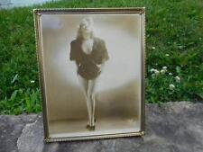 "Vintage 8"" x 10"" Photograph Crystal Ames ""Thaw"" - Burlesque Dancer Pin-Up Girl"