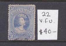Qld: 2/ Blue Large Chalon Asc 22 V.F.Used