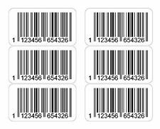 EAN Printed Barcode Number Stickers 1000 - 20000 Labels Only, no codes provided!