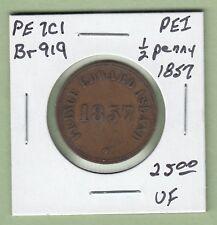 1857 Prince Edward Island 1/2 Penny Token - Br919 - VF